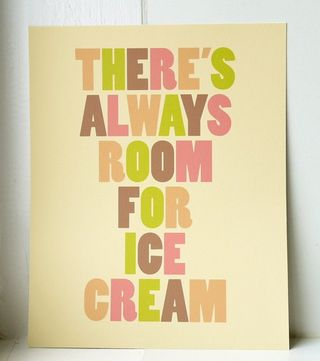 Always room for icecream